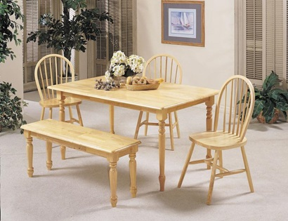 "02247N NATURAL 36x60"" SOLID TOP TABLE"