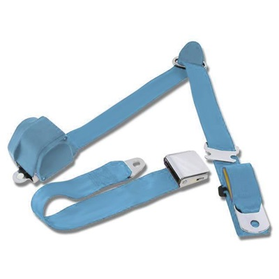 1964.5-73 Mustang 3-Point Seat Belt-Light Blue