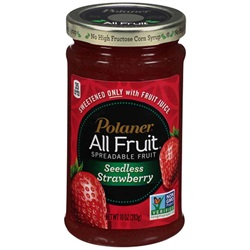 Polaner All Fruit Spread, Seedless Strawberry - 10oz