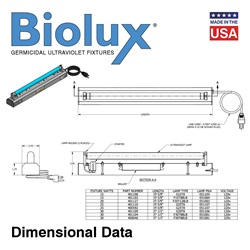 Biolux® UV Air and Surface Irradiating Strip Fixtures