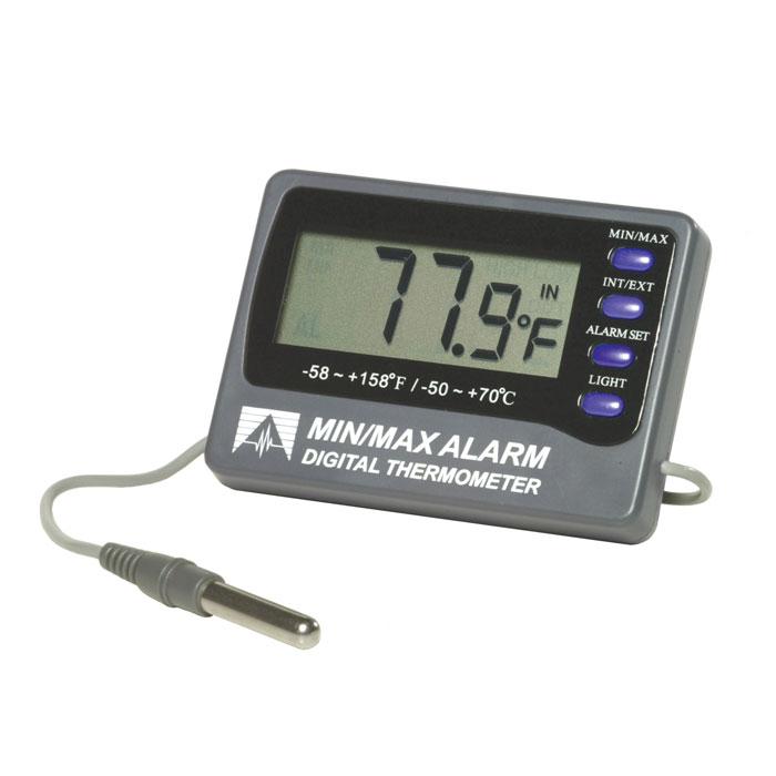 weber scientific min max alarm digital thermometer deltatrak 12207. Black Bedroom Furniture Sets. Home Design Ideas