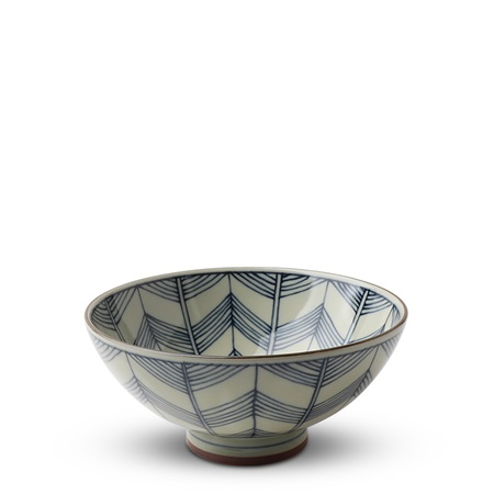 "Celadon Chevron 5.5"" Rice Bowl"