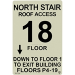 Safe-T-Lume Custom Stair ID Photoluminescent Sign with Brail