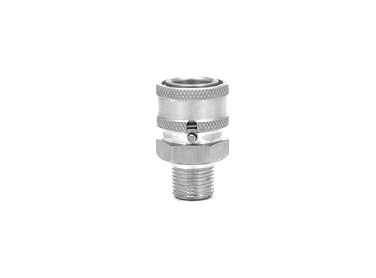 "MTM Hydro Stainless 3/8"" Male Locking QC Coupler"