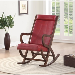 59536 BURGUNDY ROCKING CHAIR