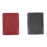 Red brake and clutch pedal pad
