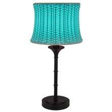"25.25""H Outdoor Basketweave Lamp"