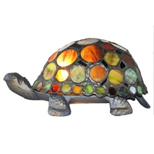 "3.5"" H Tiffany Style Spotted Turtle"