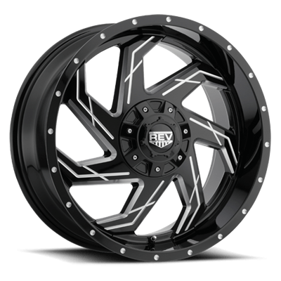 REV Off Road 895 Series 20x9 6x139.7/6x135 -Gloss Black/Milled