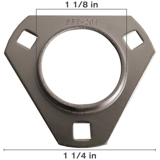 Stamped Steel 3 Bolt Flange