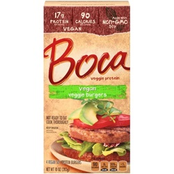 BURGER BOCA ORG VEGAN 48 CT