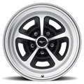 15 x 7 Magnum Alloy Wheel, 5 on 4.5 BP, 4.25 BS, Satin Black / Satin