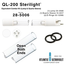 QL-200 Viqua™ / Sterilight® Equivalent Combo Kit (Lamp and Quartz Sleeve)