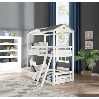 37665 Nadine Cottage Twin Over Twin Bunk Bed