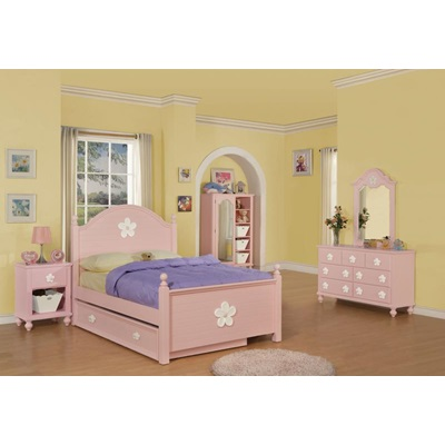 00738-TRN PINK W/WH FLOWER TRUNDLE