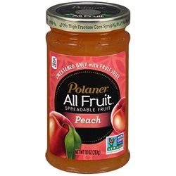 Polaner All Fruit Spread, Peach - 10oz