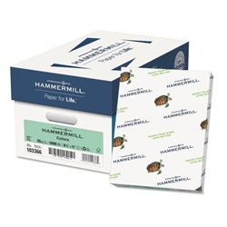 8.5 X 11 20 LB GREEN HAMMERMILL FORE COPY PAPER, 103366, 500/RM