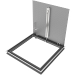 Drainable Aluminum Diamond Tread Floor Door, 300psf