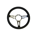 "Corso Feroce 15"" Black Leather Steering Wheel 9 Hole"