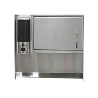 "Advance Tabco 7-PS-34 Soap & Towel Dispenser for 17"" Wide Hand Sinks"