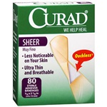 "Adhesive Bandages - Sheer 0.75"" x 3"""