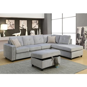 52710 BELVILLE GRAY SECTIONAL SOFA