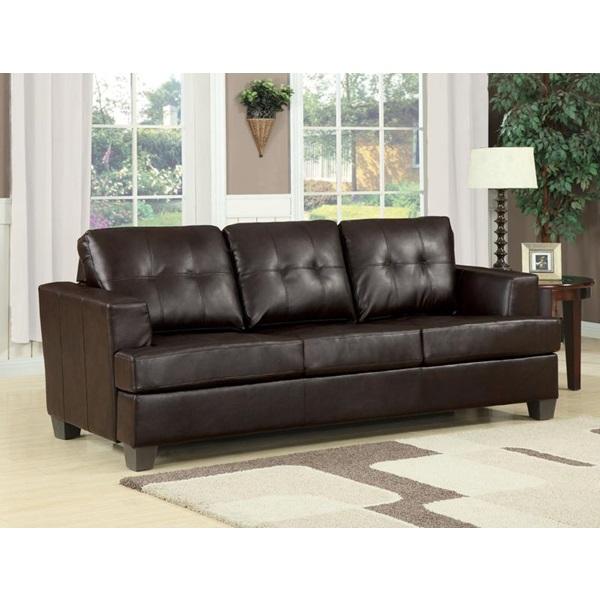 Acme Furniture - 15060 BROWN BND L. SOFA W/Q. SLEEPER