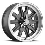 15 x 7 Legendary HB45 Alloy Wheel, 5 on 4.5 BP, 4.25 BS, 5 Lug, Charcoal / Machined