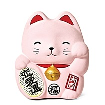 FENG SHUI FORTUNE CAT BANK - PINK
