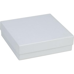 #33 3-1/2 X 3-1/2 X 1 WHITE BRACELET JEWELRY BOX WITH COTTON, 100/CS