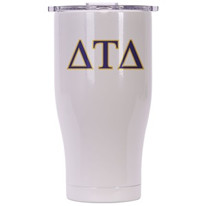 Delta Tau Delta Pearl/Clear Chaser 27oz