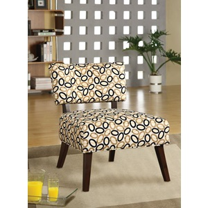59073 ACCENT CHAIR BEIGE/DARK OVAL F