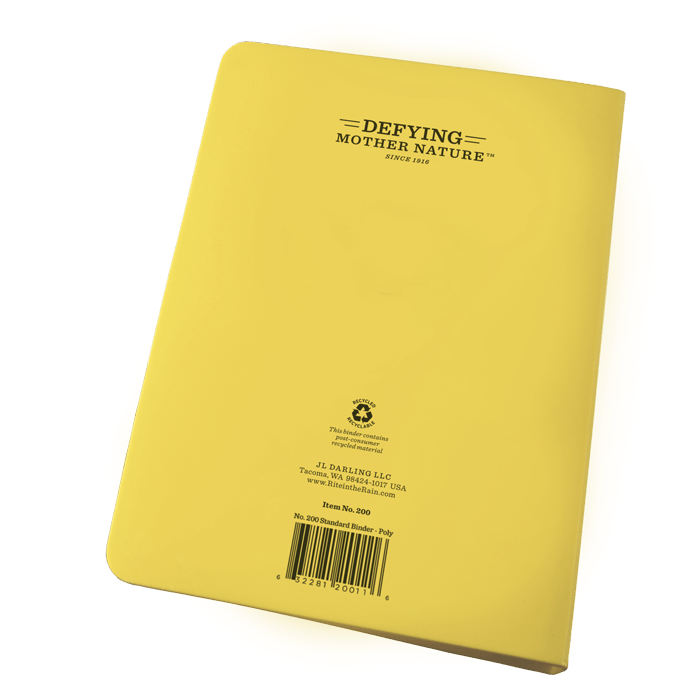 No. 200 Yellow Ring Binder 1/2 Inch