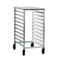 New Age Bun Pan Rack w/Stainless Steel Top