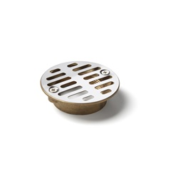 1266AV: 2 Inch Shower Stall Strainer with Vandal Resistant Screws
