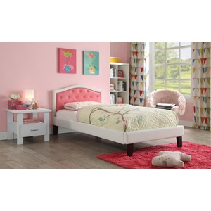 30785F PINK PU FULL BED