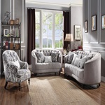 52061 FABRIC LOVESEAT W/3 PILLOWS