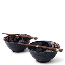 "BLUE SAKURA 5.75"" BOWL SET/2"