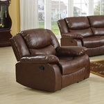 50012 BROWN RECLINER W/MOTION