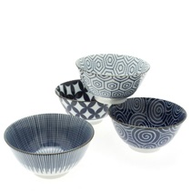 Bowl Set Modern Indigo 5-1/4""