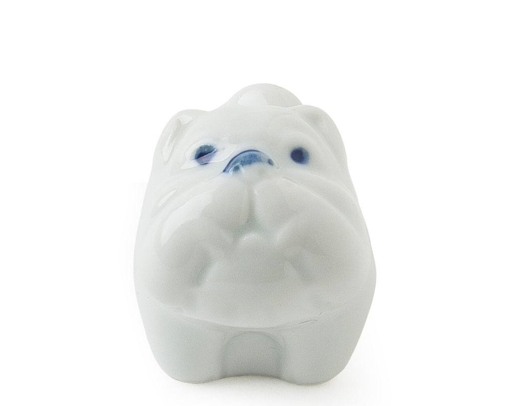 Bulldog Chopstick Rest - White
