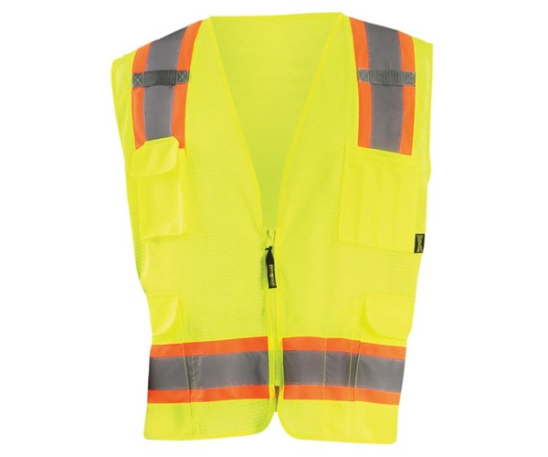High Visibility Two-Tone Surveyor Mesh Vest