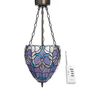 "29.5""H Tiffany Style Wireless LED  Hanging Chandelier with Remote Control"