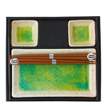 Snow & Emerald Sushi Set