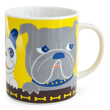 Pop Art Dogs 8 Oz. Mug - Yellow