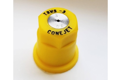 ConeJet TeeJet TX-VS3 - Yellow VisiFlo Hollow Cone Stainless Steel Nozzle