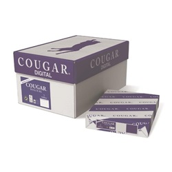 8.5 X 11 80 LB 98 BRIGHT COUGAR DIGITAL COVER SMOOTH PAPER, 2986, 250/RM   8 RM/CS