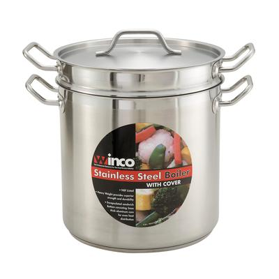Winco SSDB-20 Double Boiler with Cover