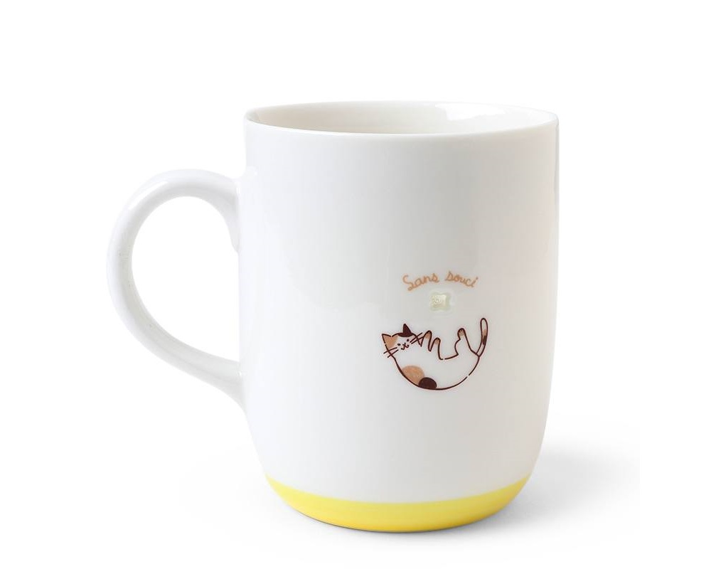 Cat Mug Treetop Yellow