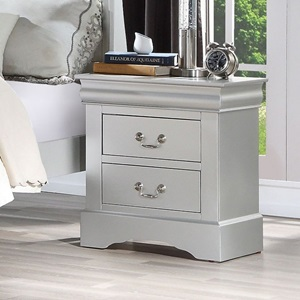26703 Louis Philippe III NIGHTSTAND PLATINUM
